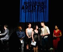 BAC All Stars: Michael Lavine (piano), left to right: Randy Donaldson, Jessica McRoberts, Mimi Bessette, Adam Roberts, D'Vorah Bailey